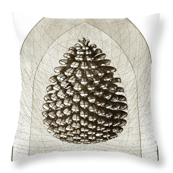 Pinecone Throw Pillow by Charles Harden
