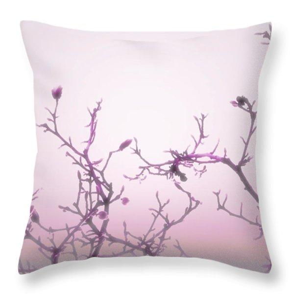 Pink Dawn Throw Pillow by Ann Powell