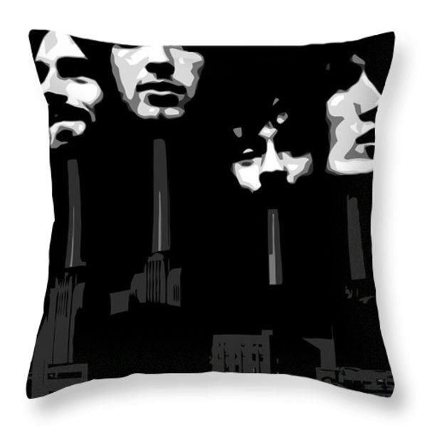 Pink Floyd No.02 Throw Pillow by Caio Caldas