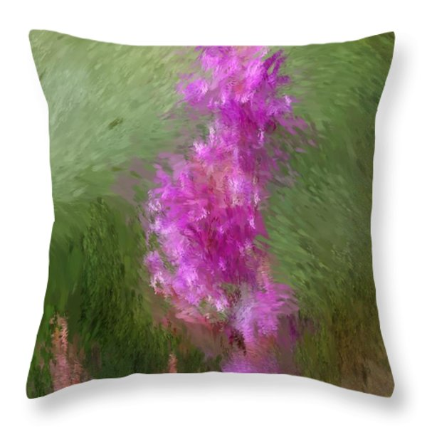 Pink nature abstract Throw Pillow by David Lane