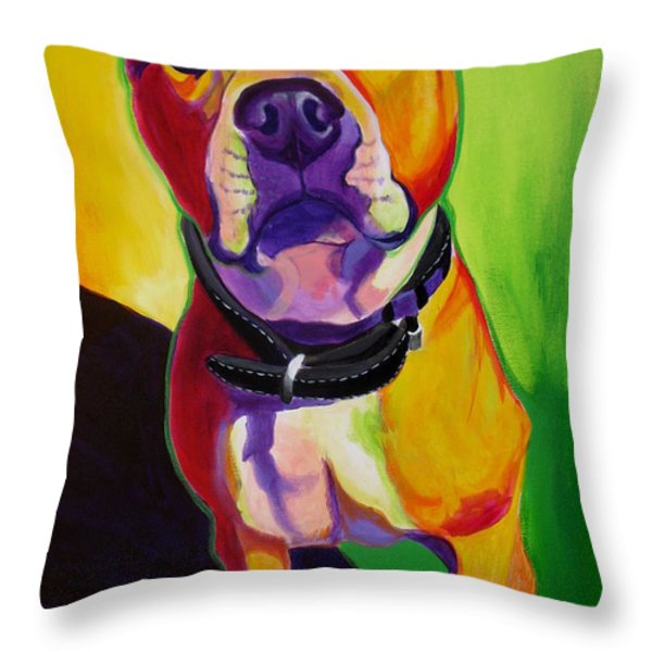 Pit Bull - Fifty Throw Pillow by Alicia VanNoy Call