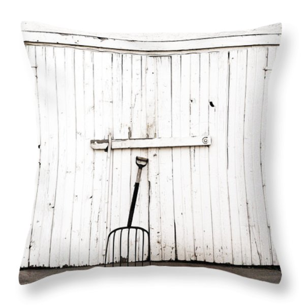 Pitch Fork Throw Pillow by Marilyn Hunt