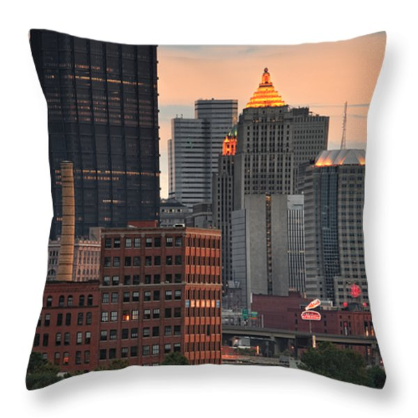 Pittsburgh 15 Throw Pillow by Emmanuel Panagiotakis
