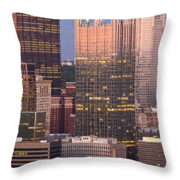 Pittsburgh 19  Throw Pillow by Emmanuel Panagiotakis