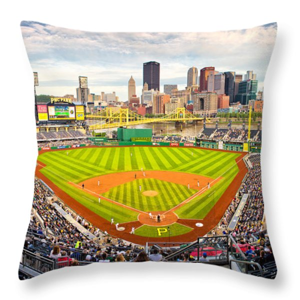 Pittsburgh Pirates  Throw Pillow by Emmanuel Panagiotakis
