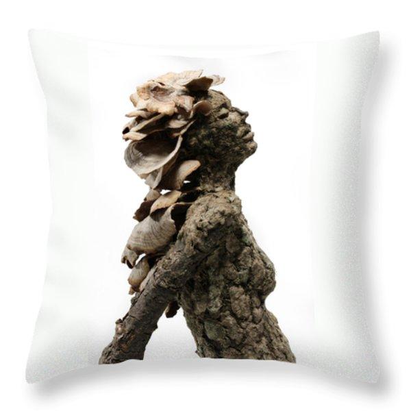 Placid Efflorescence A Sculpture By Adam Long Throw Pillow by Adam Long