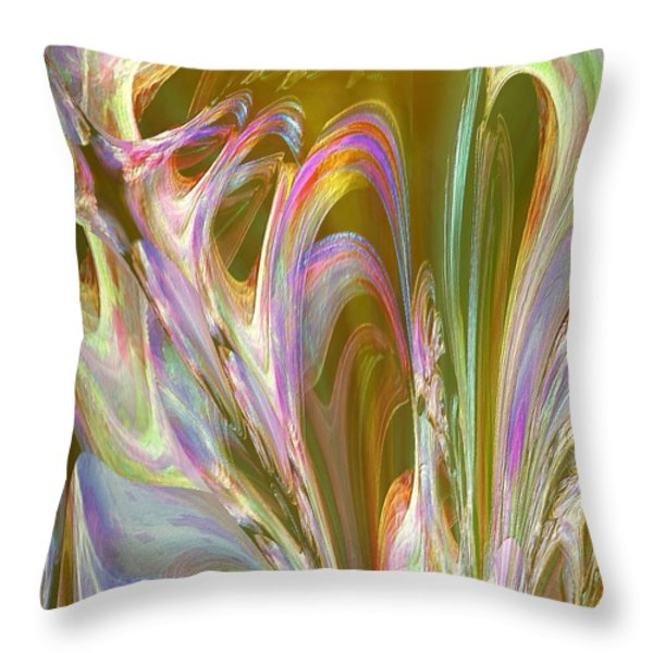 Plasma Flow Throw Pillow by Michael Durst