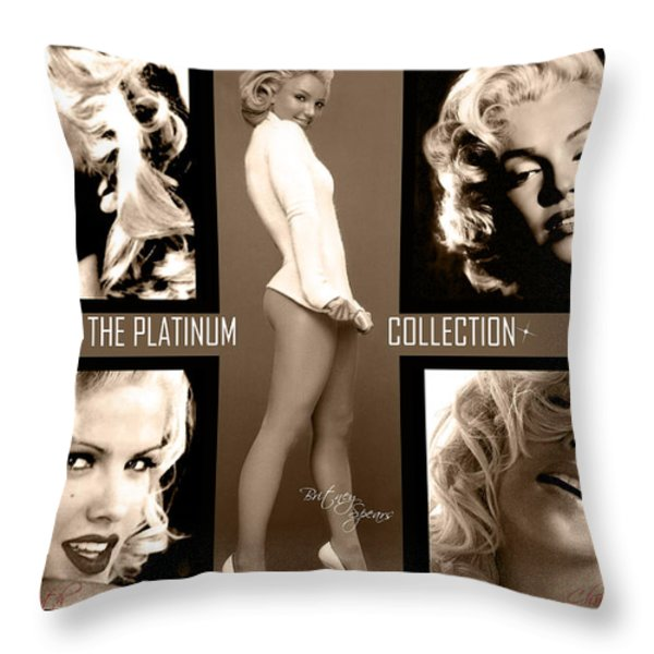 Platinum Collection Throw Pillow by Anibal Diaz