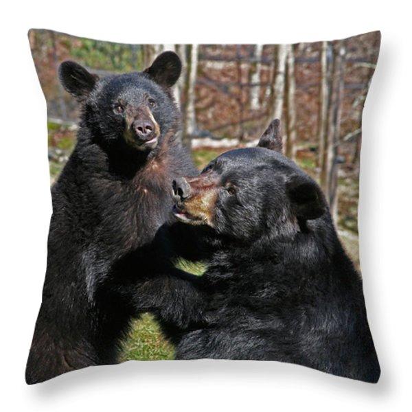 Playtime Throw Pillow by Karol  Livote