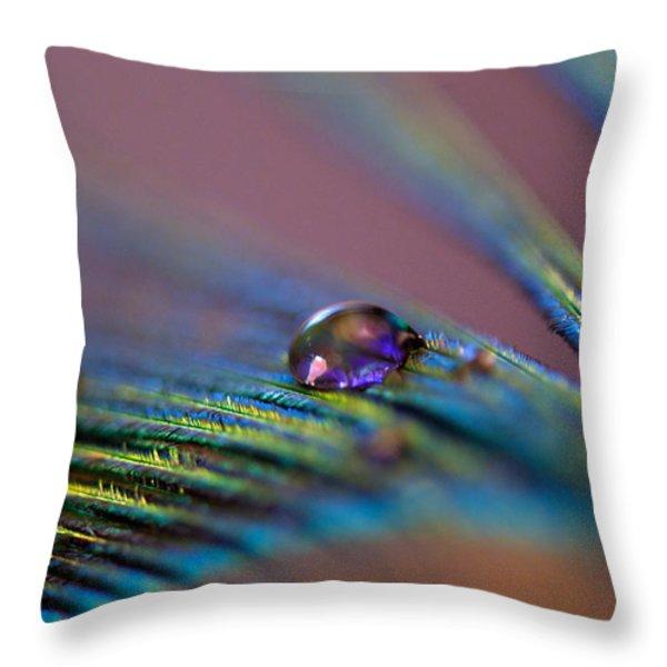 Plum Heart Throw Pillow by Lisa Knechtel