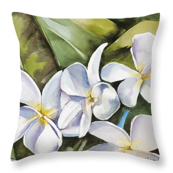 Plumeria II Throw Pillow by Han Choi - Printscapes