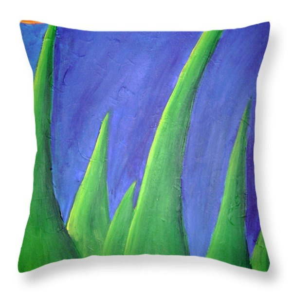Pointy Mountains Throw Pillow by Jera Sky