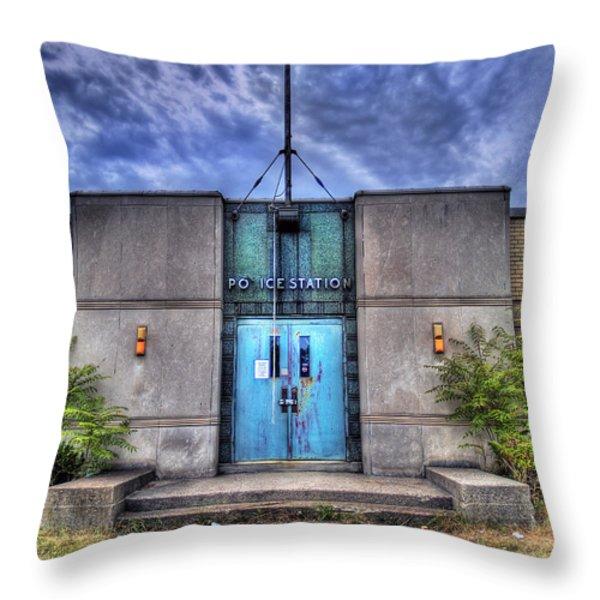 Police Station Throw Pillow by Tammy Wetzel