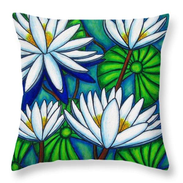 Pond Jewels Throw Pillow by Lisa  Lorenz
