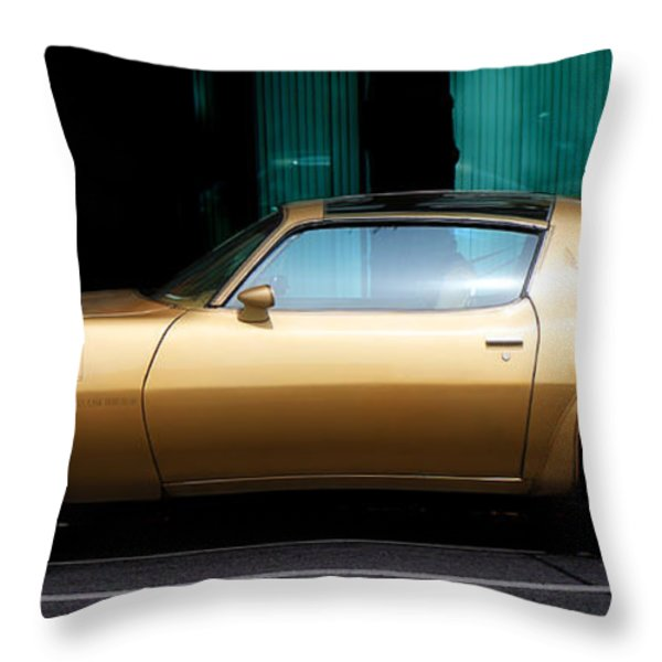 Pontiac Trans Am Throw Pillow by Andrew Fare
