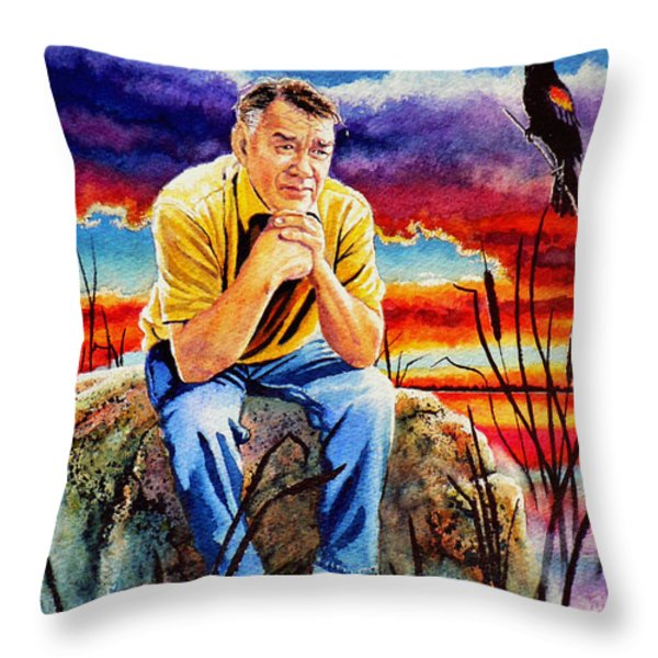 Pooka Hill 2 Throw Pillow by Hanne Lore Koehler