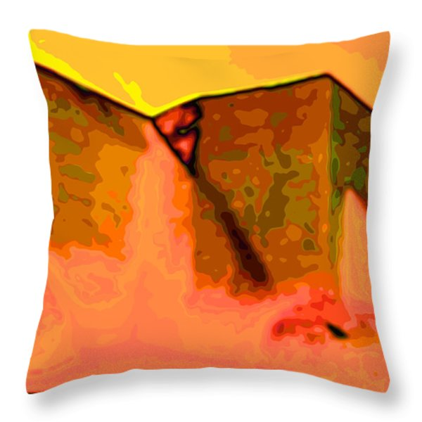 Pop Throw Pillow by Charles Muhle