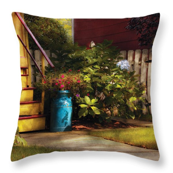 Porch - Summer Retreat Throw Pillow by Mike Savad