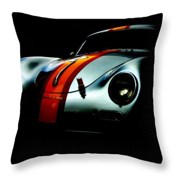Porsche 1600 Throw Pillow by Kurt Golgart