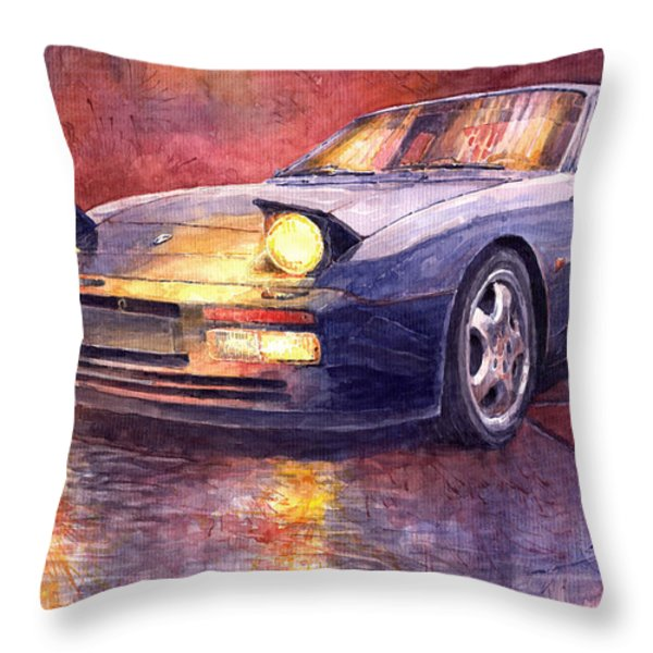 Porsche 944 Turbo Throw Pillow by Yuriy  Shevchuk