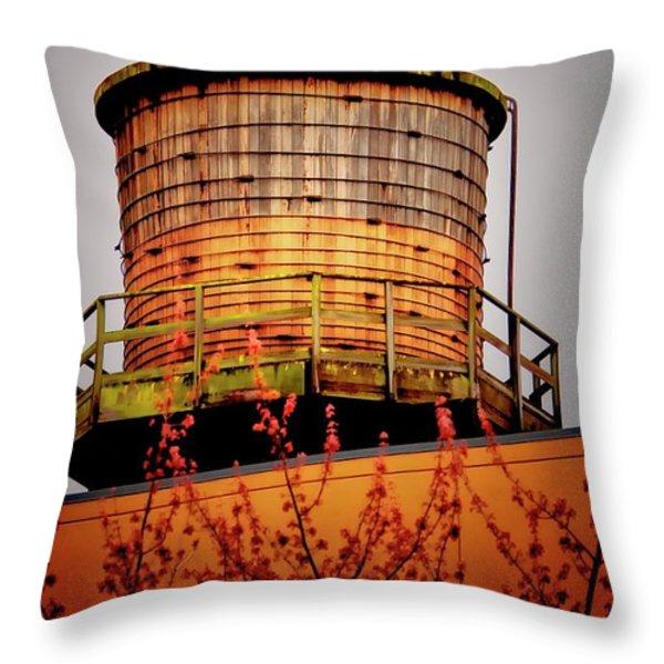 Portland Water Tower IIi Throw Pillow by Albert Seger