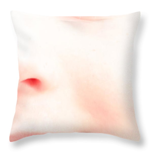 Portrait of a smile Throw Pillow by Bob Orsillo