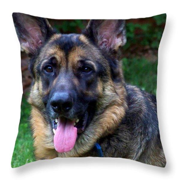 Portrait Of The Shepherd Throw Pillow by Jai Johnson