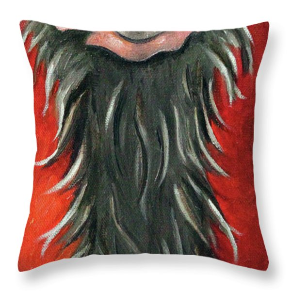 Poser 3 Throw Pillow by Leah Saulnier The Painting Maniac