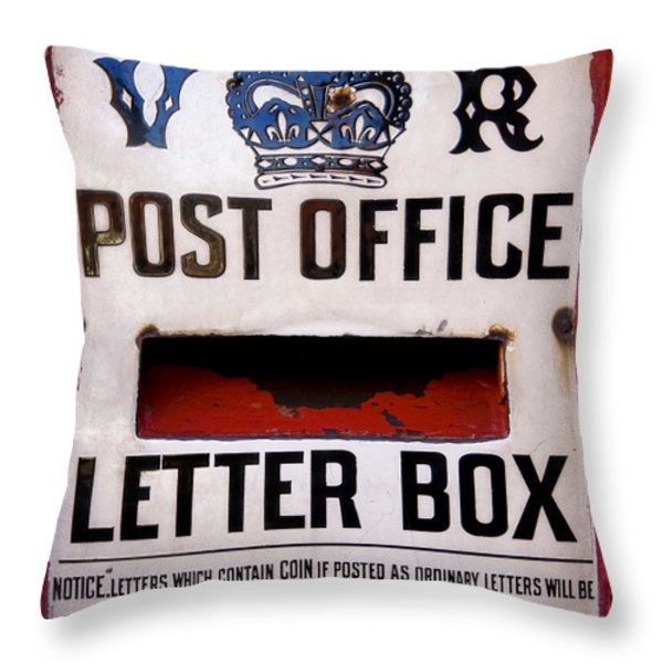Post Box Throw Pillow by Jane Rix