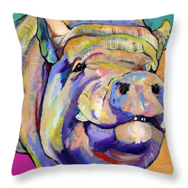 Potbelly Throw Pillow by Pat Saunders-White