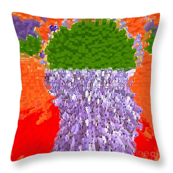 POURING OUT THE MIND Throw Pillow by Patrick J Murphy