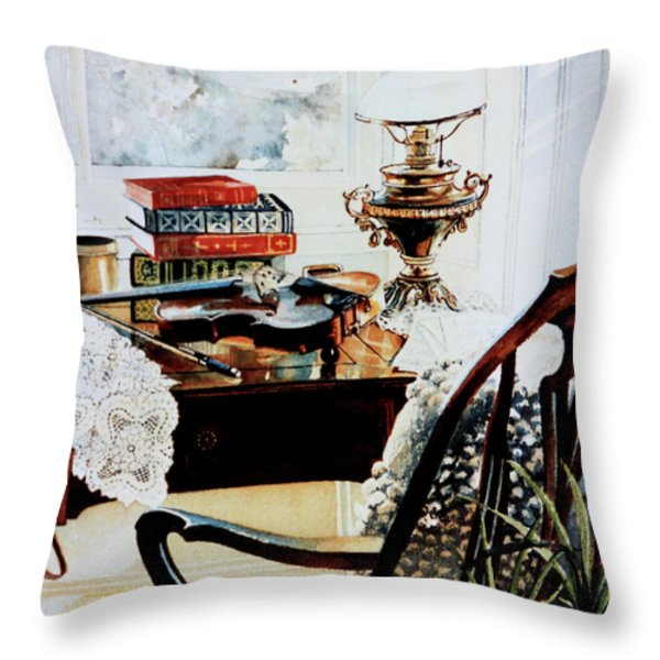 Practice Makes Perfect Throw Pillow by Hanne Lore Koehler