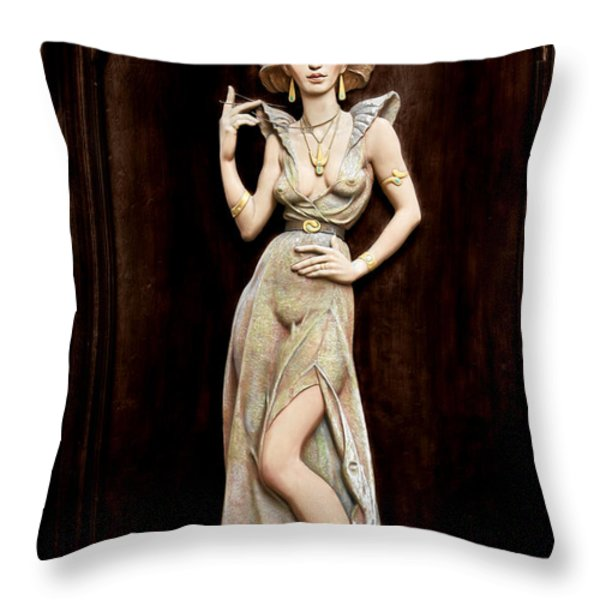 Prague - Mysteriously Beautiful Throw Pillow by Christine Till
