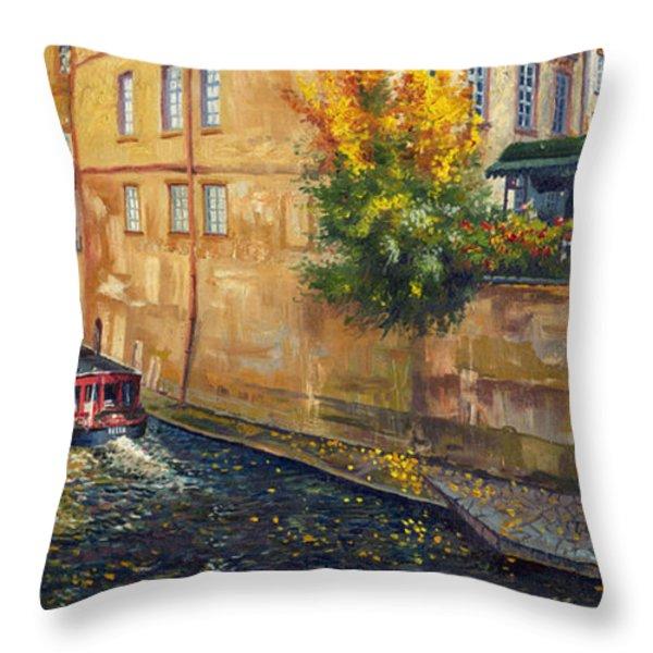 Prague Venice Chertovka 2 Throw Pillow by Yuriy  Shevchuk