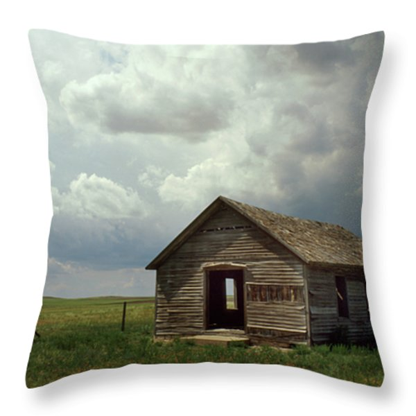 Prairie Church Throw Pillow by Jerry McElroy