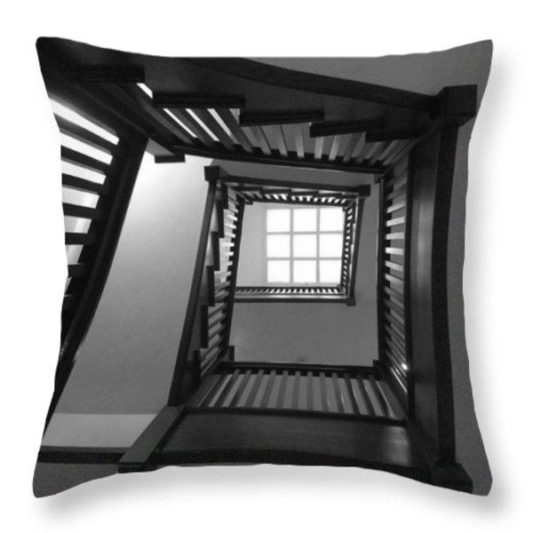 Prairie House Stairs Throw Pillow by Anna Villarreal Garbis