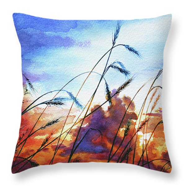 Prairie Sky Throw Pillow by Hanne Lore Koehler
