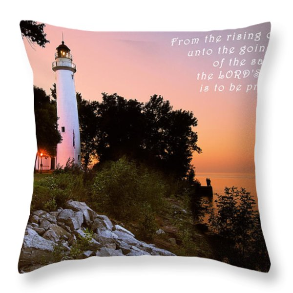 Praise His Name Psalm 113 Throw Pillow by Michael Peychich