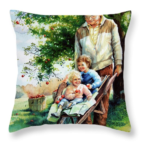 Precious Cargo Throw Pillow by Hanne Lore Koehler
