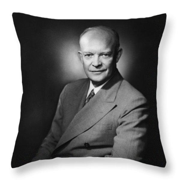 President Dwight Eisenhower Throw Pillow by War Is Hell Store