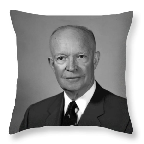 President Eisenhower Throw Pillow by War Is Hell Store