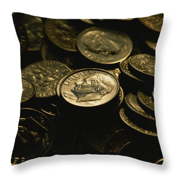 President Franklin Roosevelts Profile Throw Pillow by Joel Sartore