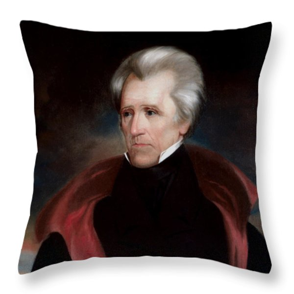 President Jackson Throw Pillow by War Is Hell Store