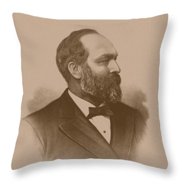 President James Garfield Throw Pillow by War Is Hell Store