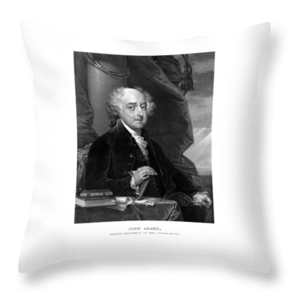 President John Adams Throw Pillow by War Is Hell Store