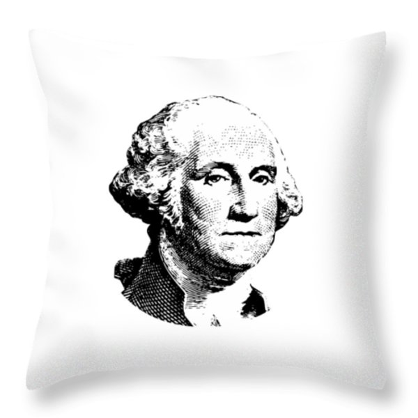 President Washington Throw Pillow by War Is Hell Store