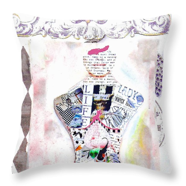 Pretty in Pink Throw Pillow by Anahi DeCanio