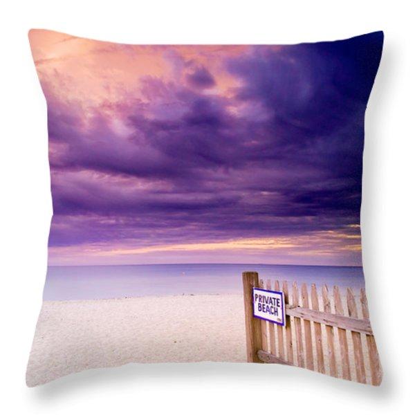 Private Beach Cape Cod Throw Pillow by Matt Suess
