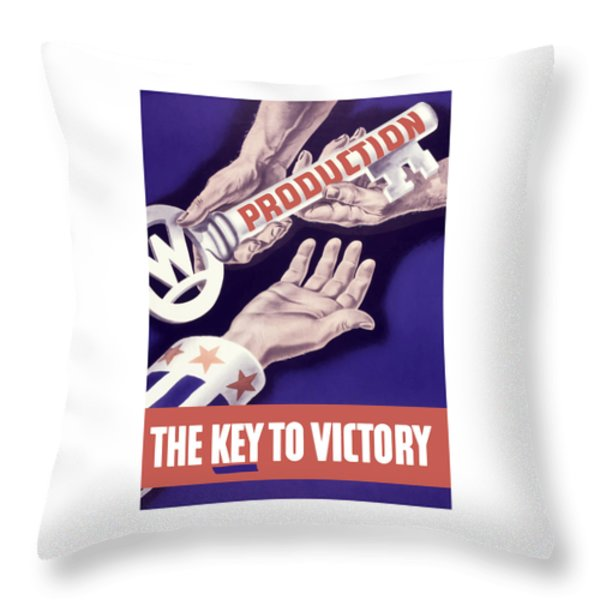 Production - The Key To Victory Throw Pillow by War Is Hell Store