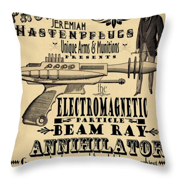 Professor H And His Ray Gun Throw Pillow by Cinema Photography